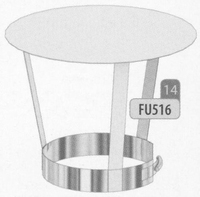 Kap: standaard regenkap, diameter 80 mm  FU5 /p.stuk