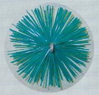 Ragebol, nylon, ROND Ø 200 mm  per stuk