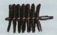 Stok-borstel ijzerdraad, lengte 10cm, diam. 3 cm  per stuk