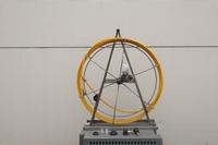 Haspel schoorsteenveger glasvezel, 20 m - Ø 9,5 mm (geel)  per stuk