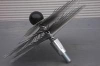 Ragebol, staal, met dubbele spiraal Ø 160 mm  per stuk