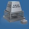 Afzuiger (muurmontage) mechanisch voor rookgas. Aansl.230V INOX 316/p.stuk