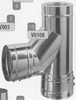 T-stuk: vertrek T-stuk, diameter 130 mm Ø130mm