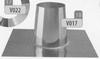 Dakplaat: 0 graden volledig inox (plat dak), diameter 130 mm Ø130mm