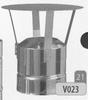 Kap: standaard regenkap, diameter 130 mm Ø130mm