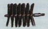 Stok-borstel ijzerdraad, lengte 10cm, diam. 4 cm per stuk