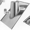 Dakplaat 30-45 graden volledig inox (leien), diameter 150 mm DW/ p.stuk
