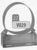 Beugel: gewone muurbeugel (50 mm), diameter 300 mm DW/p.stuk