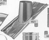 Dakplaat: 30-45 graden loden slab (pannen), diameter 300 mm DW/p.stuk