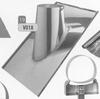 Dakplaat 30-45 graden volledig inox (leien), diameter 300 mm DW/p.stuk